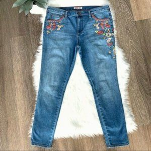 Women's Indigo Embroidered Skinny Jeans Size 30,31